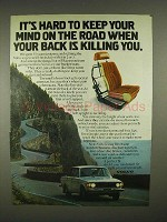 1973 Volvo Car Ad - Your Back is Killing You