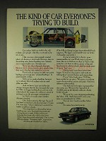 1973 Volvo Car Ad - Everyone's Trying to Build