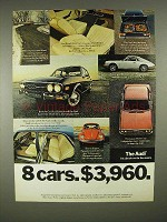 1973 Audi Car Ad - 8 Cars. $3960
