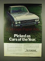 1973 Audi Car Ad - Picked as Cars of the Year