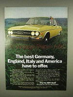 1973 Audi Car Ad - Best Germany, England, Italy Offer