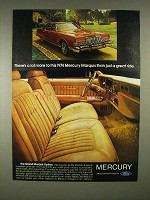 1974 Mercury Marquis Car Ad - Lot More to This Ride