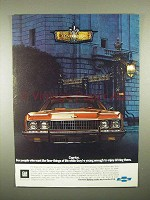 1973 Chevrolet Caprice Car Ad - Finer Things of Life