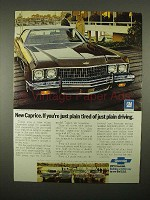 1973 Chevrolet Caprice Coupe Car Ad - Plain Tired
