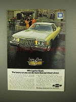 1974 Chevrolet Caprice Classic Coupe Car Ad - Luxury