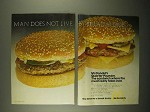 1973 McDonald's Quarter-Pounder Hamburger Ad!