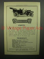 1908 Pennsylvania Fifty Car Ad - Tersely