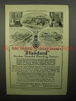 1908 Standard Plumbing Fixtures Ad - Three Homes