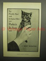 1908 Packer's Tar Soap Ad - Kitten, Don't Scratch