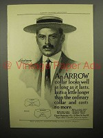 1908 Arrow Shirt Collar Ad - Lusitania, Aurania, Amolek