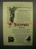 1908 Steinway Piano Ad - Vertegrand, Miniature Grand - Musical Science