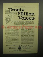 1908 AT&T Telephone Ad - Twenty Million Voices
