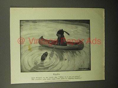 1908 Illustration by Peter Newell - Indian, Ripples