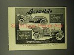 1908 Locomobile 40 Runabout, 40 Touring Car Ad!