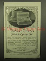 1913 Waltham Bride-and-Groom Watch Set Ad