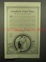 1913 Goodrich Cord Tires Ad - Luxury tire for Electrics