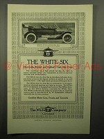 1913 White Five Passenger Six Car Ad!
