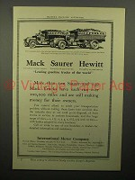 1913 Mack Saurer Hewitt Truck Ad - Making Money