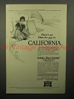 1913 Rock Island Lines Railroad Ad - California