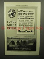 1913 Northern Pacific Railway Ad - Every Mile a Picture