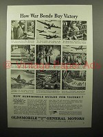 1943 WWII Oldsmobile War Bonds Ad - Buy Victory
