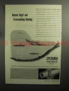 1943 WWII Sylvania Radio Tubes Ad, Beyond Sight Hearing