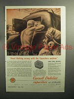 1943 WWII Cornell Dubilier Mica Capacitors Ad - Tank