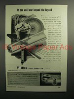 1943 WWII Sylvania Electric Products Ad - See and Hear