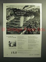 1943 WWII IT&T Telephone Ad - Mine Field Destroyed