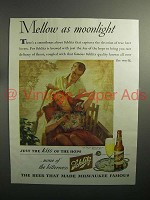 1944 Schlitz Beer Ad - Mellow as Moonlight