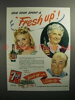 1944 7up Soda Ad - Give Your Spirit a Fresh Up