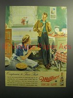 1946 Miller High Life Beer Ad - Companion to Taste