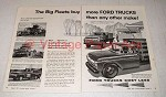 1957 Ford Truck Ad - Big Fleets Buy More Trucks