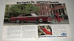 1973 Chevrolet Caprice Coupe Car Ad- Uppermost