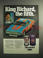 1974 STP Oil Ad w/ Richard Petty - King Richard Fifth