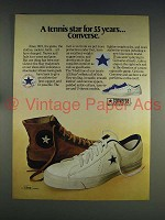 1974 Converse All-Star Shoe Ad - Tennis Star