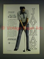 1974 Jaymar Coordinates Ad - Cary Middlecoff