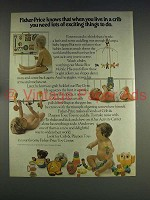 1974 Fisher-Price Crib & Playpen Toys Ad - Exciting