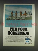 1974 OMC Stern Drive Motor Ad - The Four Horsemen