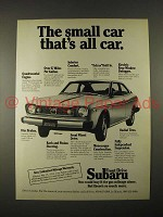 1974 Subaru GL Coupe Car Ad - The Small Car