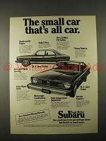 1974 Subaru DL 4-Door Sedan Car Ad - The Small Car