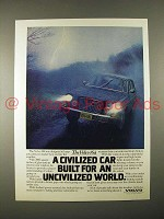1974 Volvo 164 Car Ad - Built for an Uncivilized World