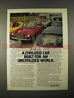 1974 Volvo 164 Car Ad - for an Uncivilized World