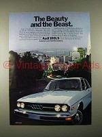 1974 Audi 100LS Car Ad - Beauty and the Beast