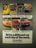 1974 Audi 100LS Car Ad - Drive a Different Car Each Day