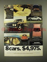 1974 Audi 100LS Car Ad - 8 Cars. $4,975