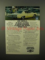 1975 Chevrolet Impala Sport Coupe Car Ad - Leaner