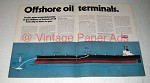 1974 Exxon Oil Ad - Offshore Oil Terminals