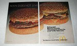 1974 McDonald's Quarter-Pounder Hamburger Ad