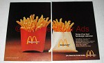 1974 McDonald's French Fries Ad - Hamburger Salesmen